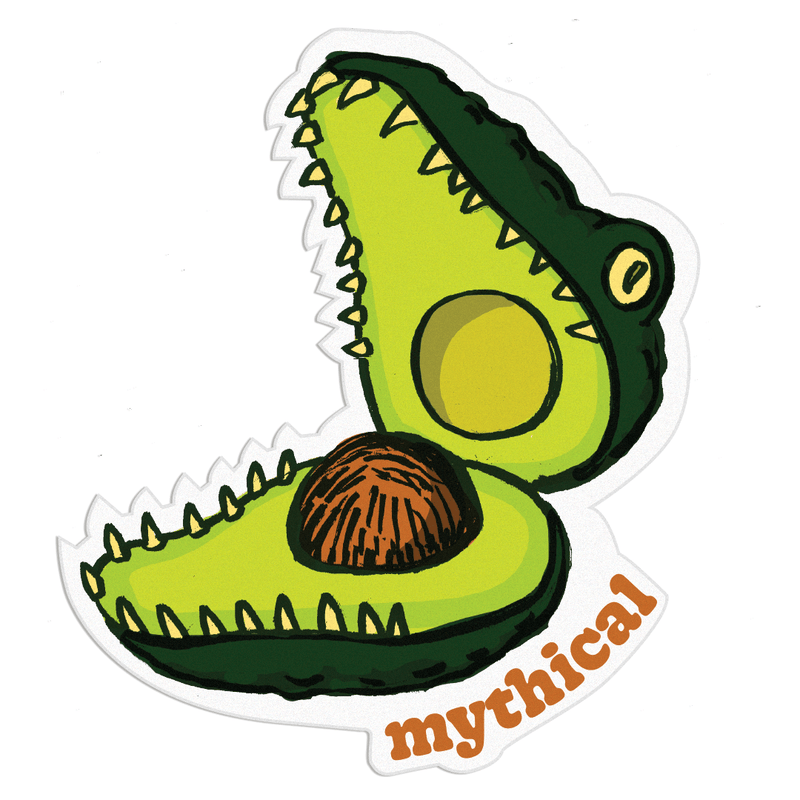 Mythical Kitchen Creature Magnet (Crococado)