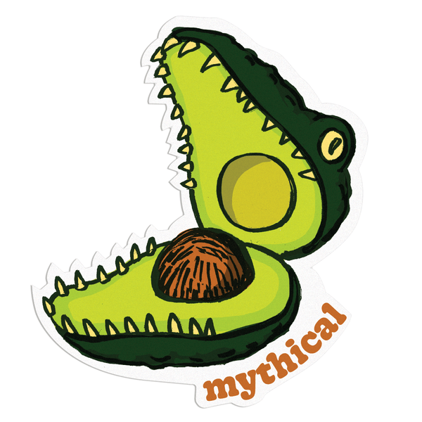 Mythical Kitchen Creature Sticker (Crococado)