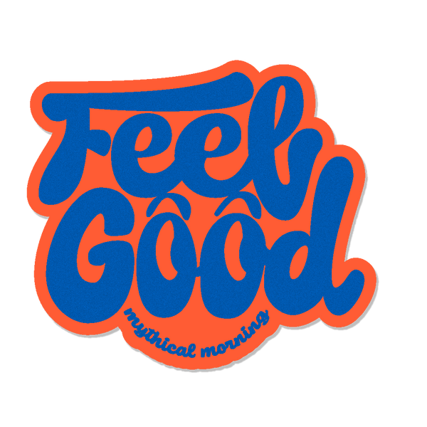 Feel Good Mythical Morning Sticker (Orange/Blue)