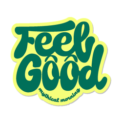 Feel Good Mythical Morning Sticker (Yellow/Green)