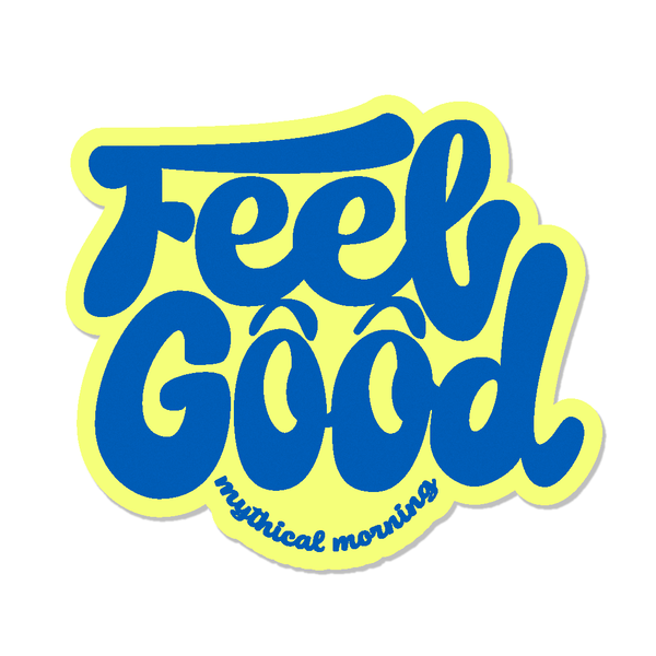 Feel Good Mythical Morning Sticker (Yellow/Blue)