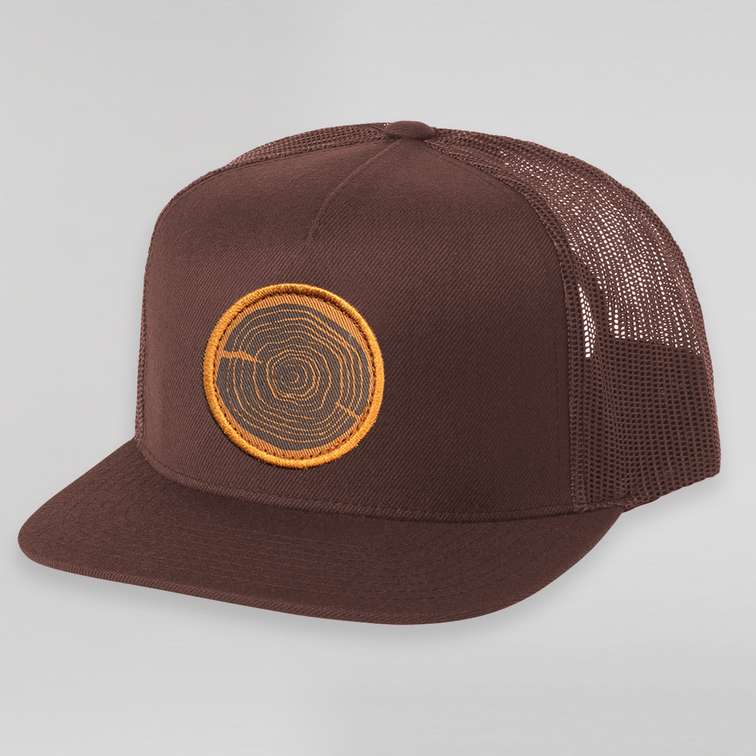 Wood Cookie Trucker Hat (Brown)