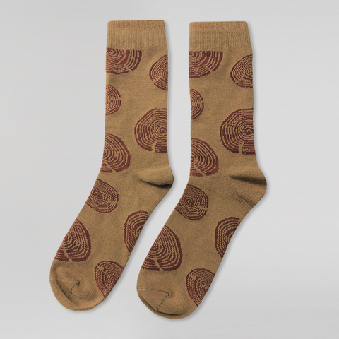 Wood Cookie Socks (Beige)