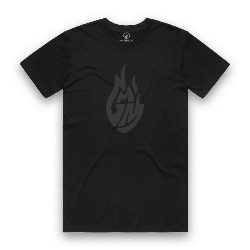 Good Mythical Morning Black on Black Logo Tee
