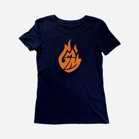 Good Mythical Morning Logo Tee (Ladies/Navy)