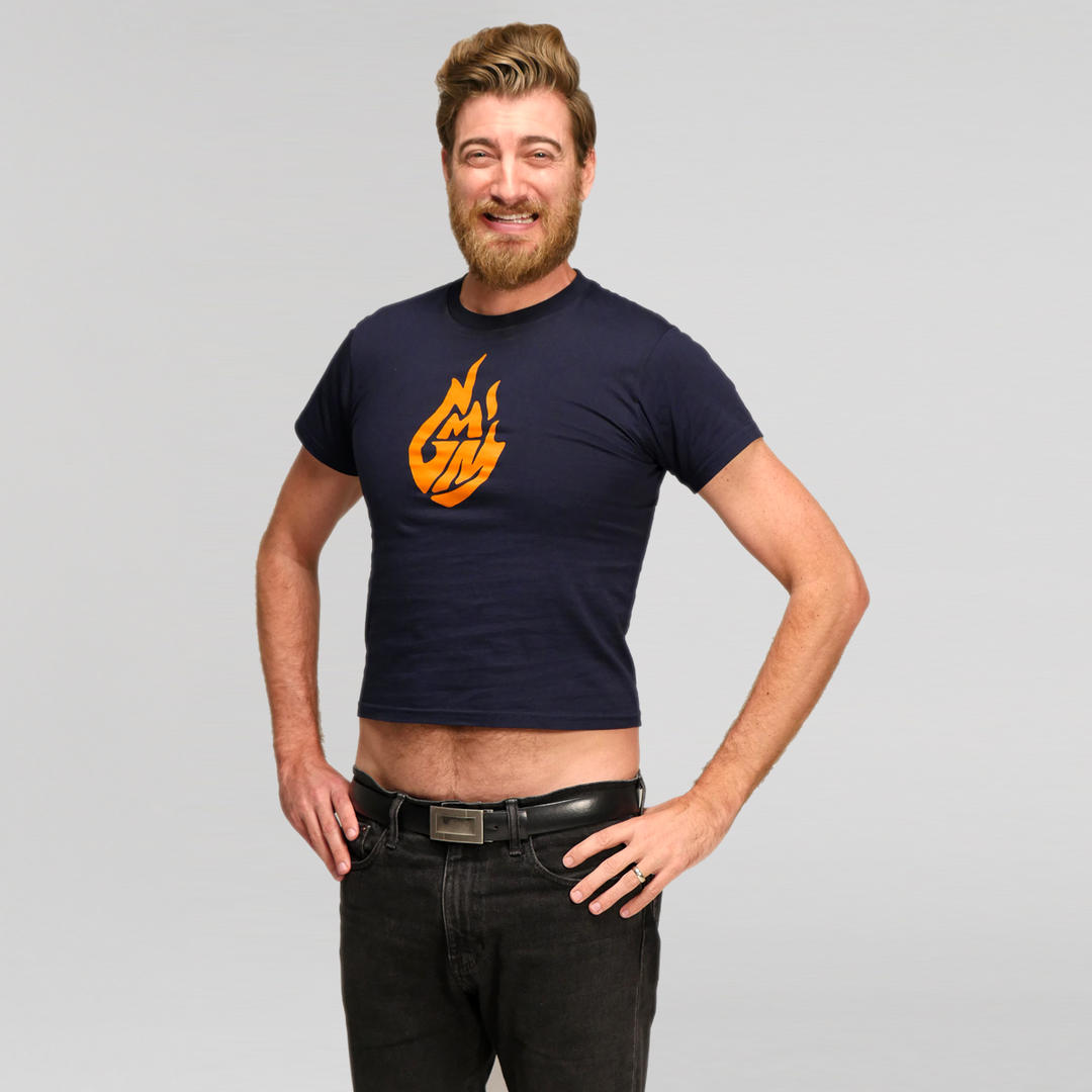 Good Mythical Morning Logo Tee (Kids/Navy)
