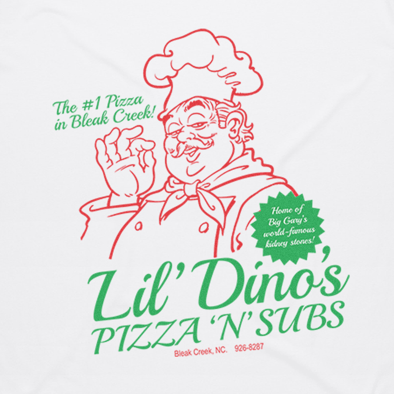 Lil Dino's Pizza 'N' Subs Tee (Bleak Creek, NC)