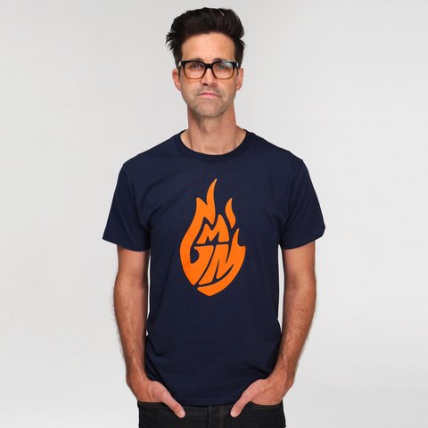 Good Mythical Morning Logo Tee (Unisex/Navy)