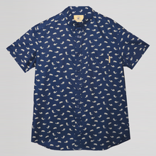 Miniature Horse Button-down Shirt (Navy)