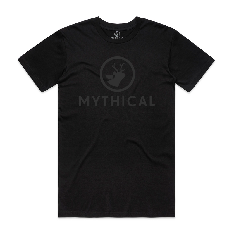 Mythical Black on Black Logo Tee