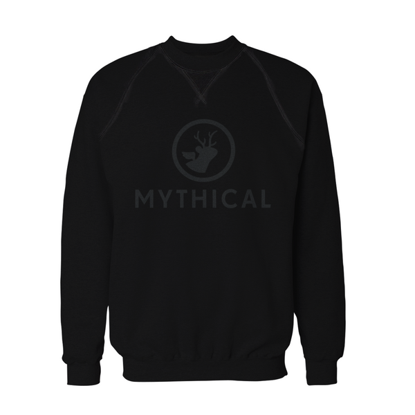 Mythical Black on Black Logo Sweatshirt