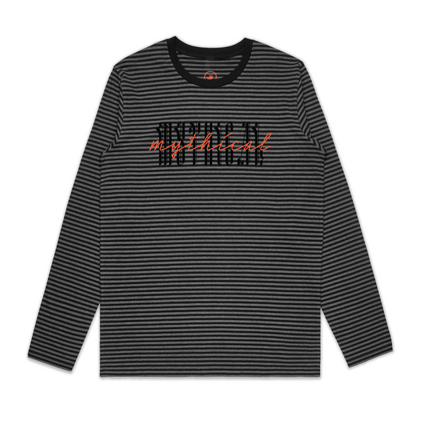 Double Vision Stripe Long Sleeve Tee