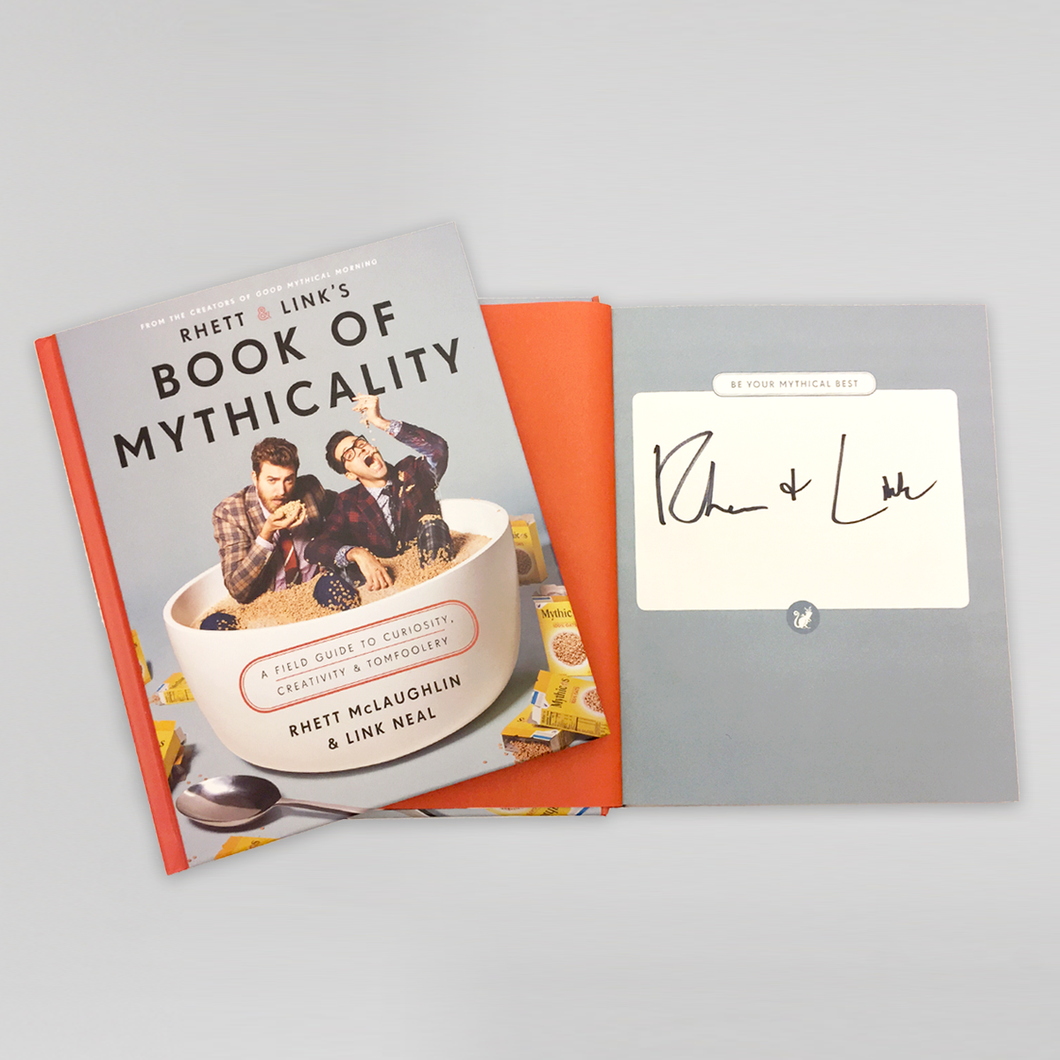 rhett link s book of mythicality signed copy mythical store