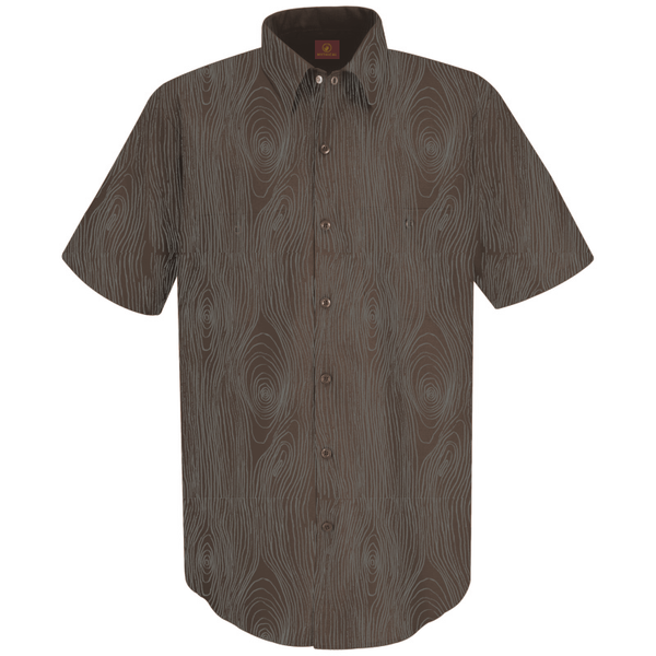Wood Grain Button-up Shirt