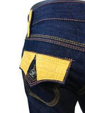 Jeans with Alligator Trim