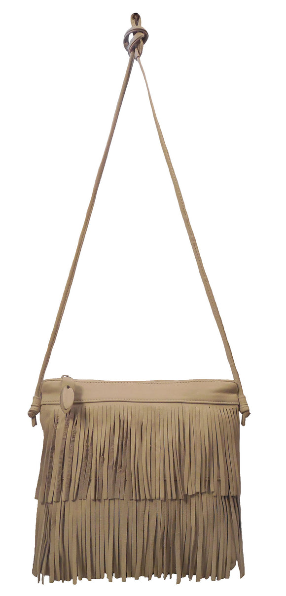Italian Leather Handbag with Fringe