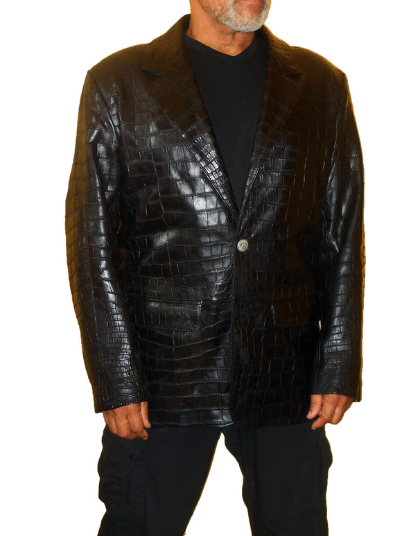 Alligator Blazer - Genuine Alligator Jacket -On Sale