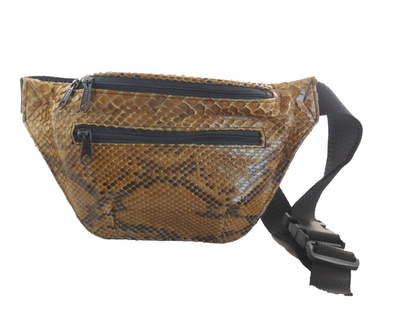 Fanny Pack - Waist Bag made from Python Snakeskin - On Sale
