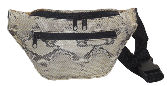 Fanny Pack - Waist Bag made from Genuine Python Snakeskin - On Sale