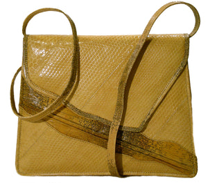 snakeskin and lizard handbag