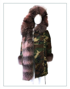 Parka Women's Cotton Parka With Fur Style #8030
