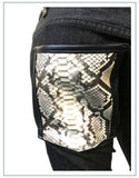 Jeans with Python Snakeskin Trim