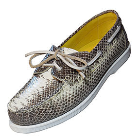 Snake Skin Boat Shoes Sperry Style Deck Shoes Lounge Lizard Style