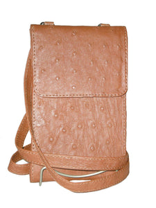 Ostrich Skin Travel Wallet