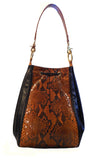 Python Snake Skin & Italian Leather Handbag