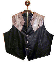 snakeskin & leather vest
