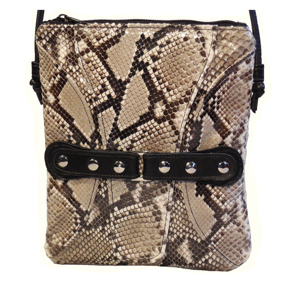 Python Snake Skin Cross-body Handbag