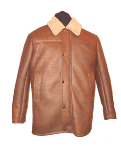 Shearling Leather 3/4 Coat