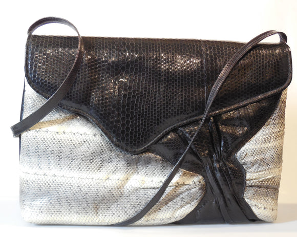 Water Snakeskin & Sea Snake Skin Handbag - On Sale
