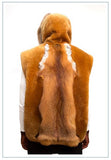 Shearling Sheepskin Vest With Hood Real Fox Fur Style #6500