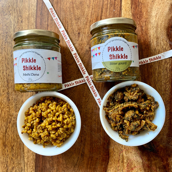 Combo #3- Methi Dana Pickle & Bitter gourd Pickle