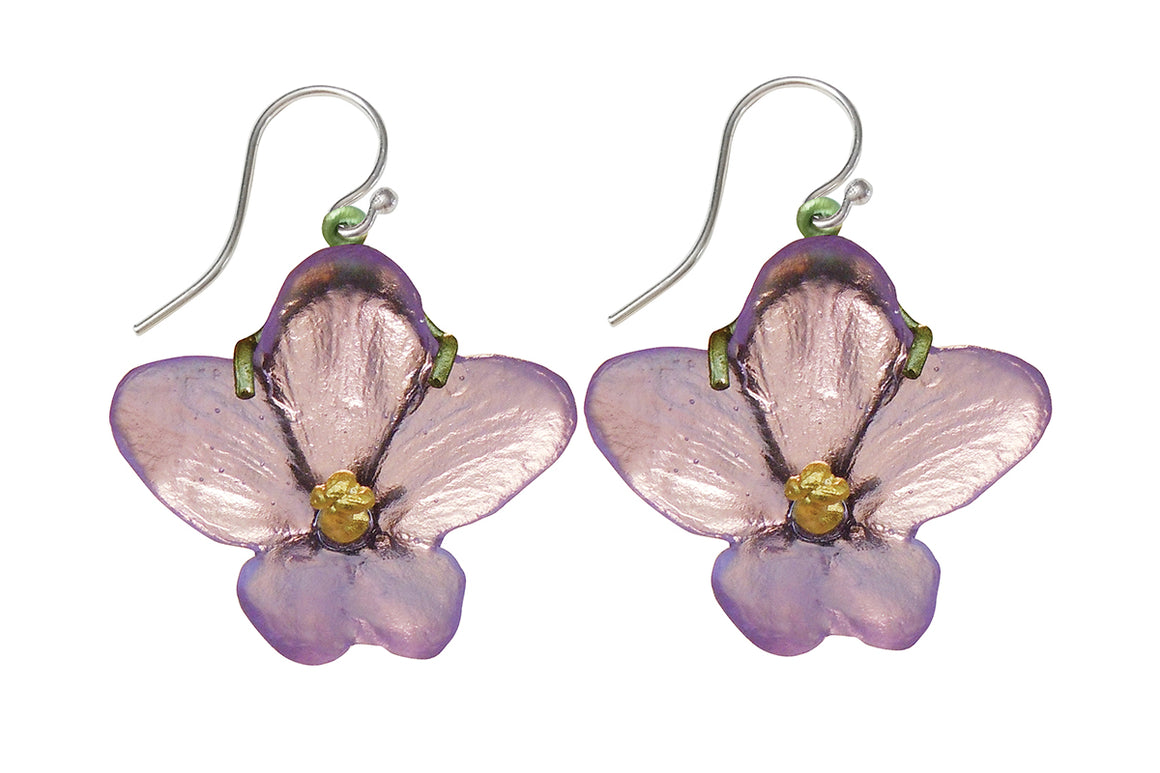 African Violet Wire Earrings