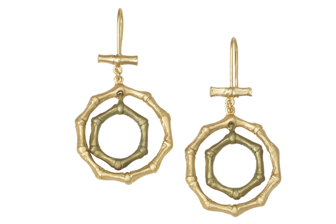 Bamboo Double Wire Earrings