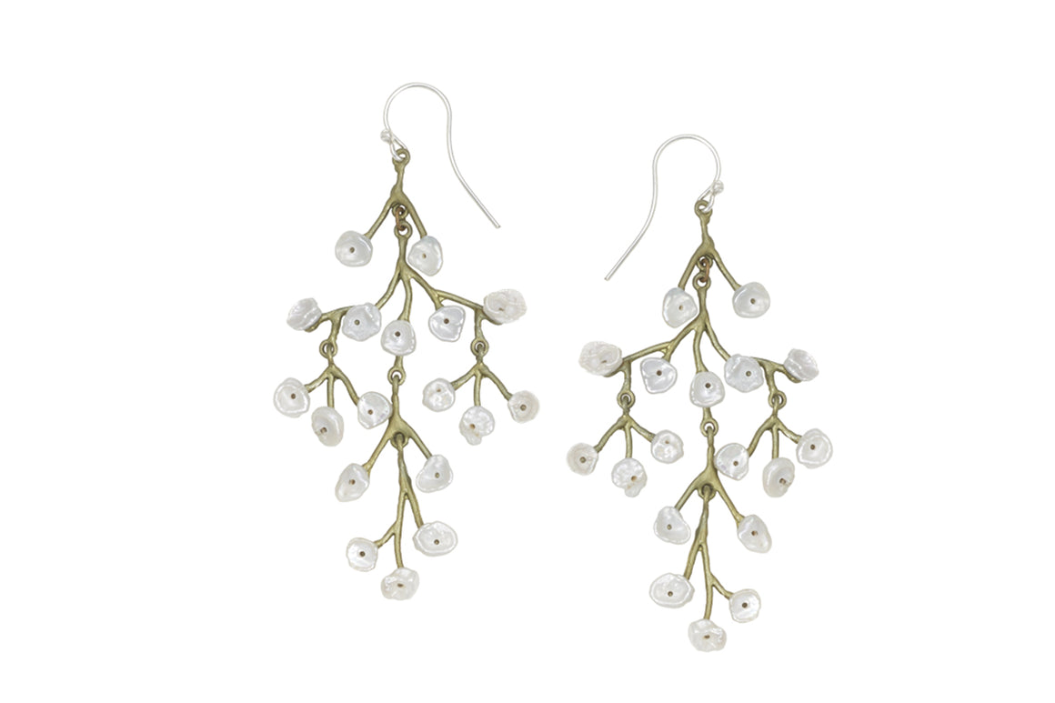 Baby's Breath Chandelier Wire Earrings