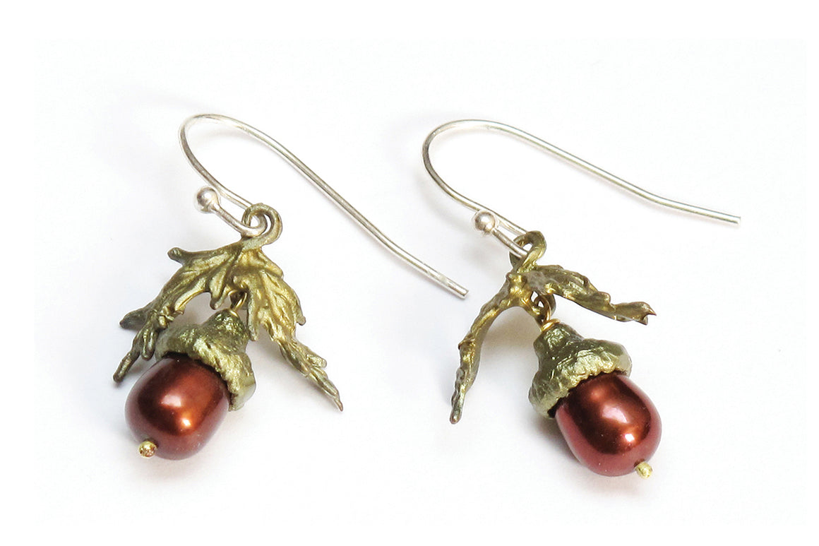 Acorn and Oak Wire Earrings