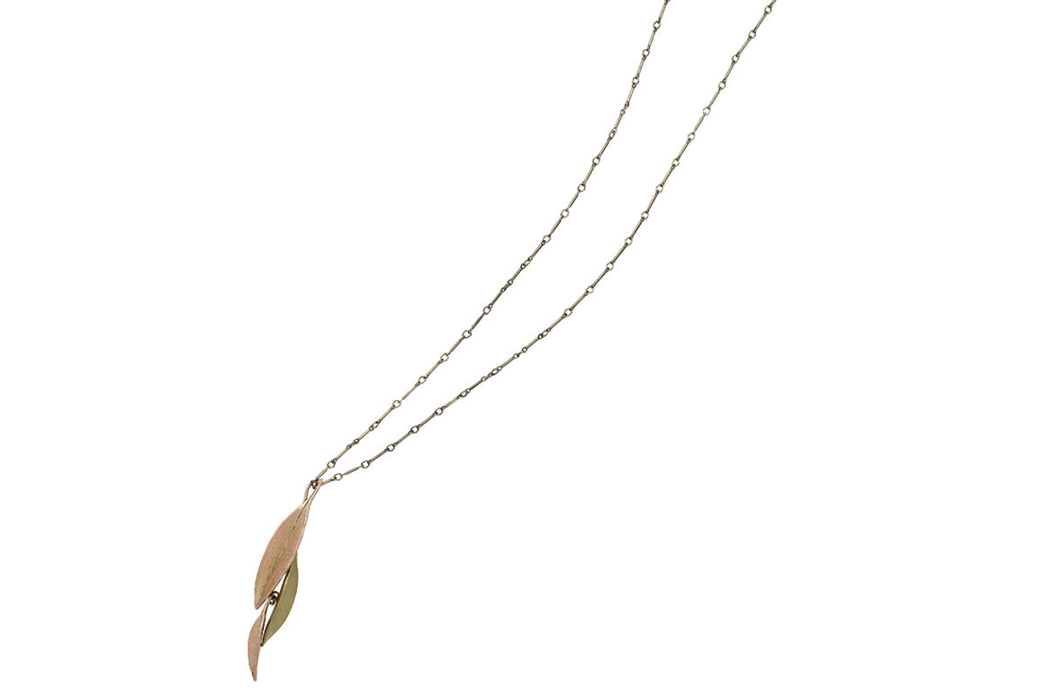 Ash Leaf Two Tone Pendant