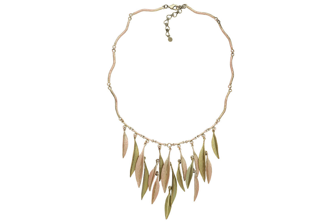 Ash Leaf Multi Dangle Necklace
