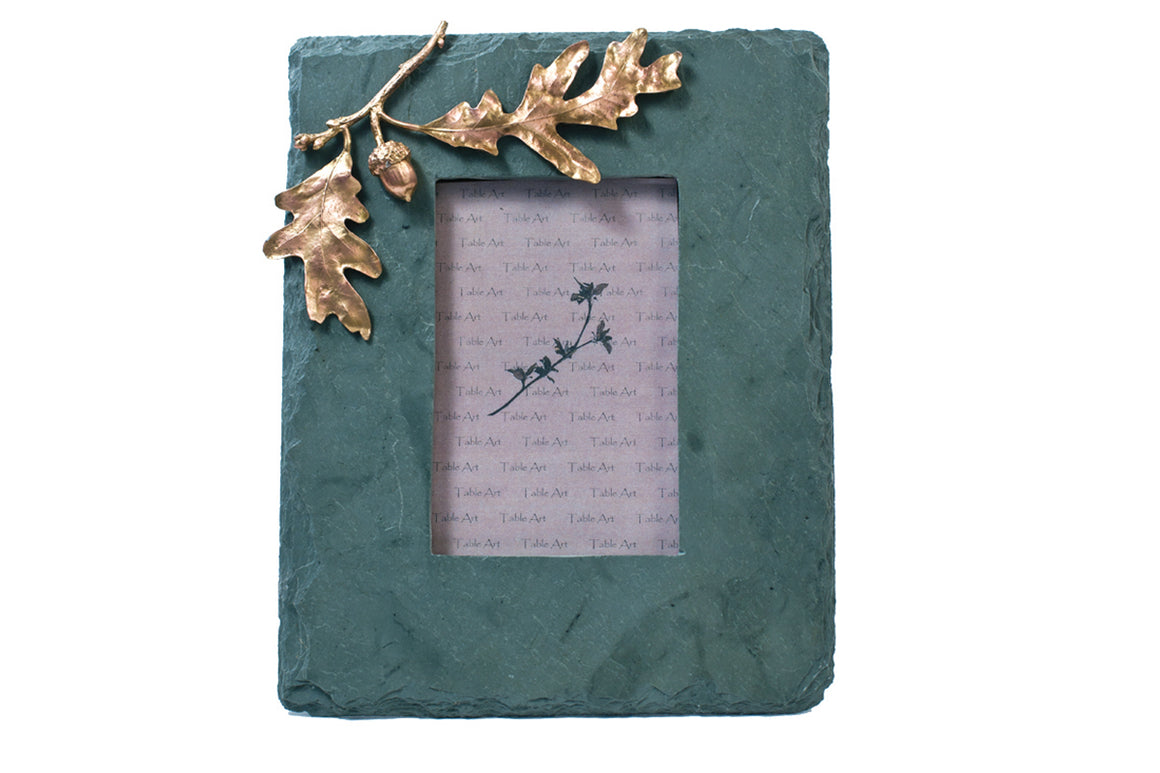 Acorn & Oak Slate Frame -  Gold Finish