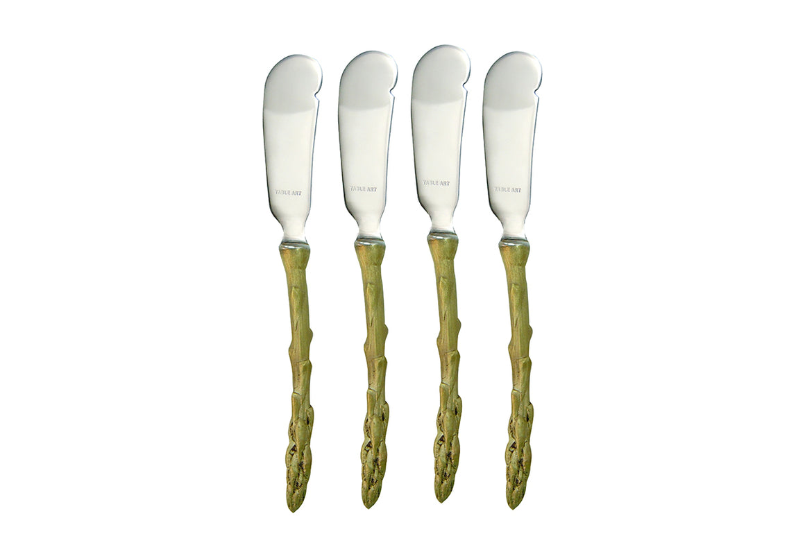 Asparagus Spreaders - Green Gold Finish, Stainless Steel