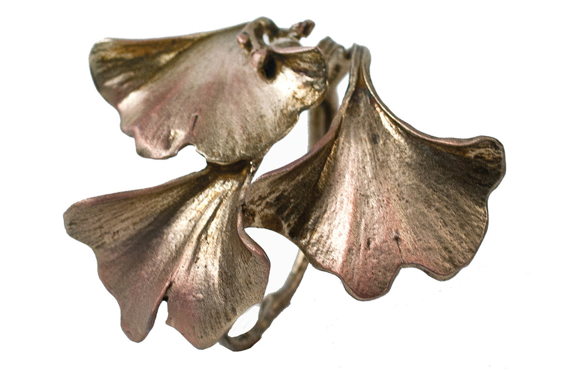 Ginkgo Napkin Rings - Gold Finish