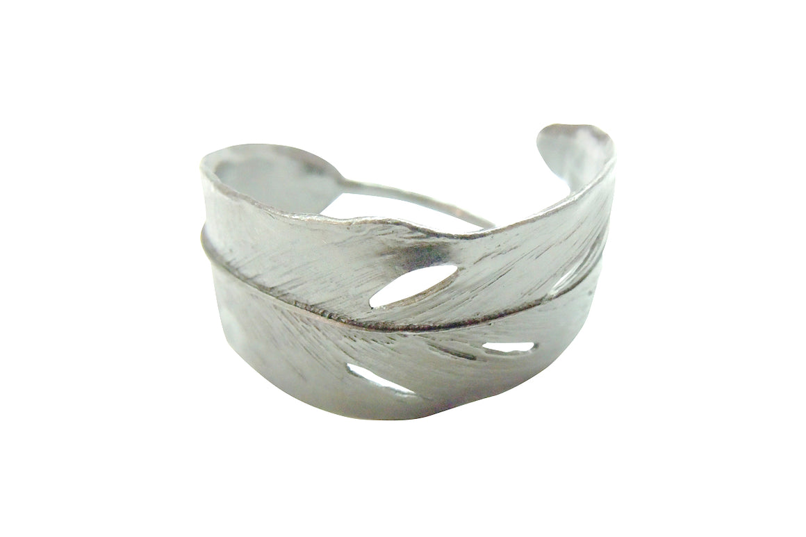 Feather Napkin Rings - Antique Pewter Finish