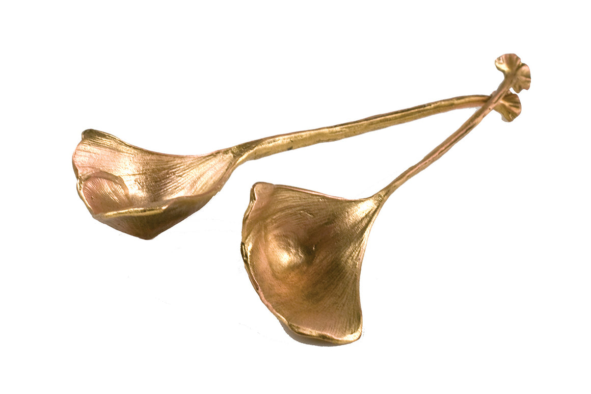 Ginkgo Spoons - Gold Finish