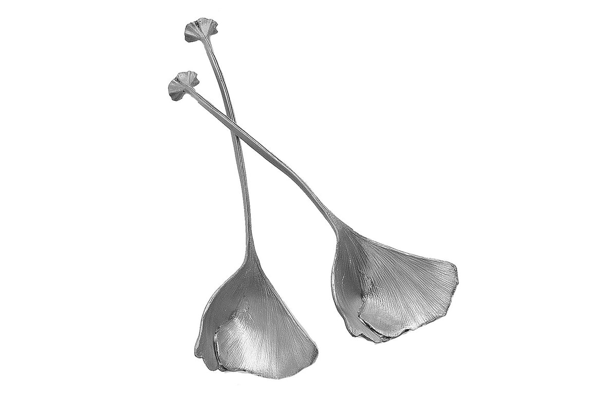 Ginkgo Spoons - Antique Pewter Finish