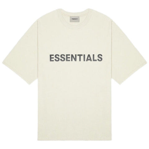 FEAR OF GOD Essentials 3D Silicone Cream T-shirt
