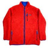 Patagonia Deep Pile Red Sherpa Jacket Size Large