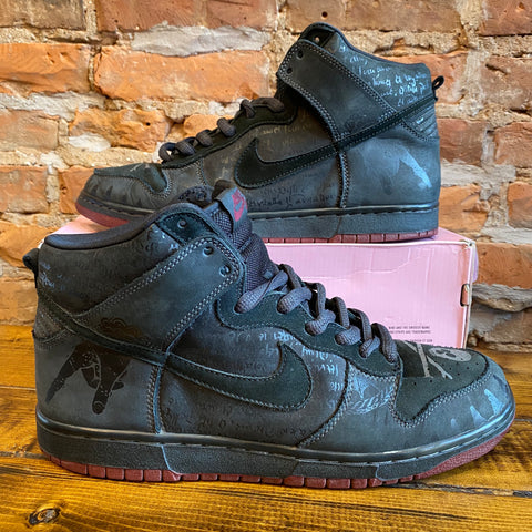 "Nike SB Dunk High ""Melvins"" Black Size 12"